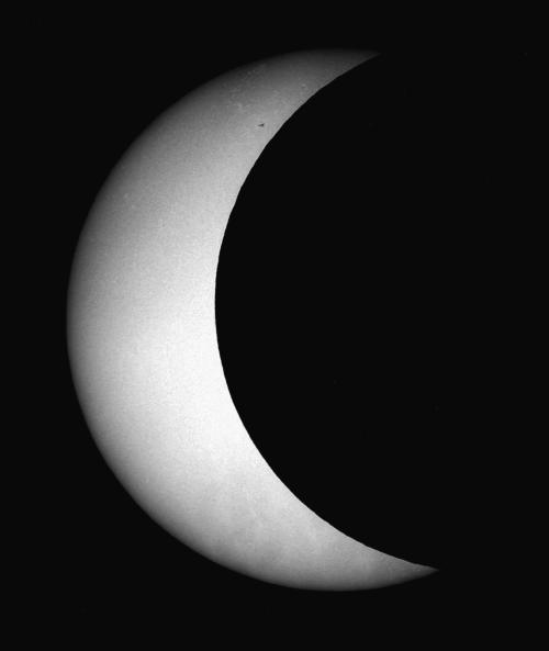 three-quarter partial eclipse.